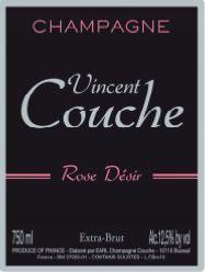 CHAMPAGNE VINCENT COUCHE - ROSE DESIR